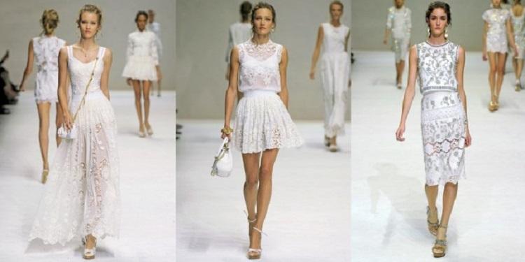 С чем сочетать белое кружевное платье