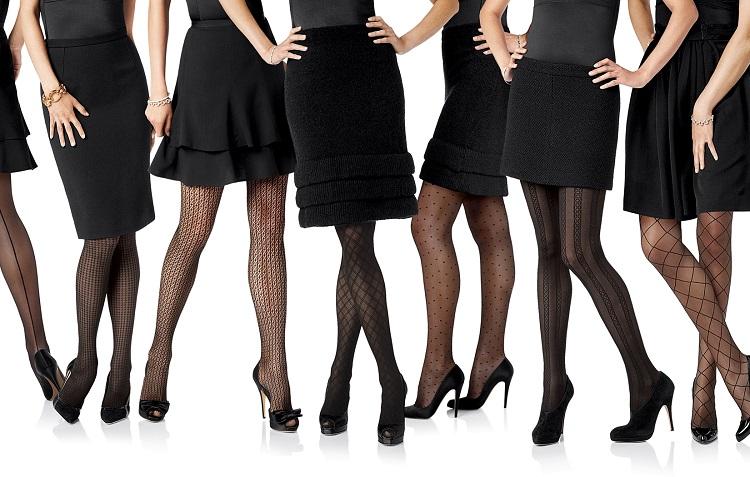 С чем носить колготки черного цвета - модные советы