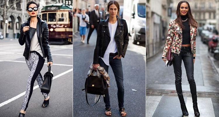 Как и с чем носить куртку-косуху женщине