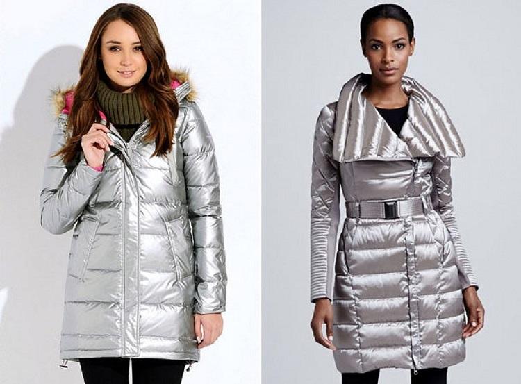 Модные модели курток из металлизированных тканей