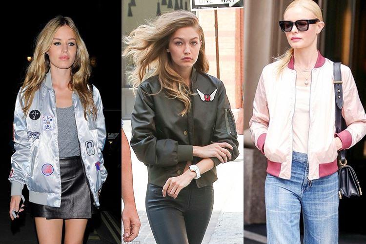 Как и с чем носить куртки-бомберы для женщин