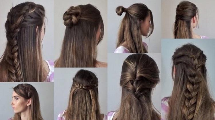 Как быстро уложить волосы - прическа на каждый день
