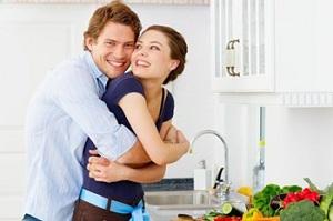 Счастливая пара - мужчина и женщина