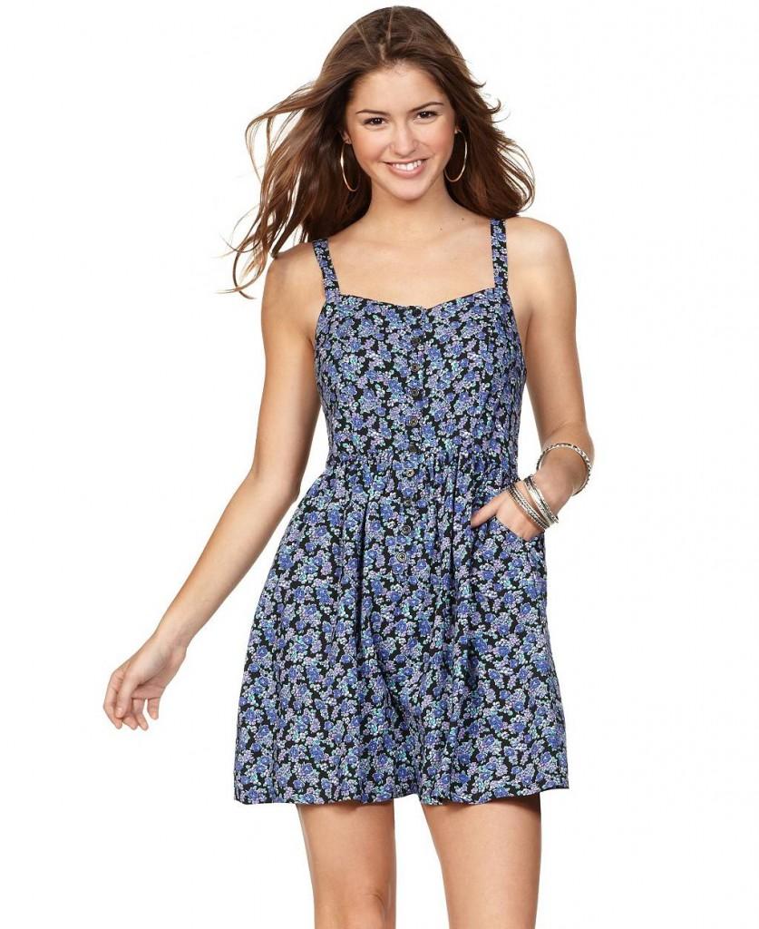 Платье в цветочек модно