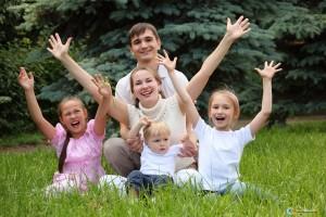 Воспитание детей в многодетной семье
