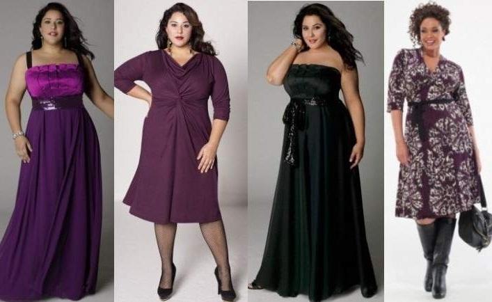 Цвет платья для полных может быть любой, кроме тех которые полнят.