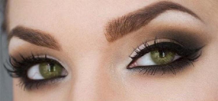 Макияж для зеленых глаз со стрелками - варианты с фото