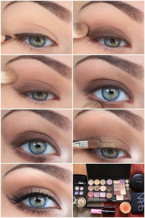 Урок макияжа для голубых глаз