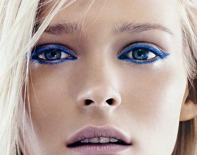 Голубой макияж для голубых глаз