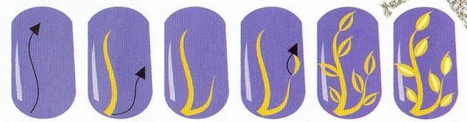 Акриловыми красками на ногтях