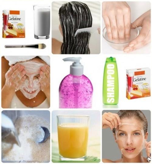 Как делать с желатином маску для волос
