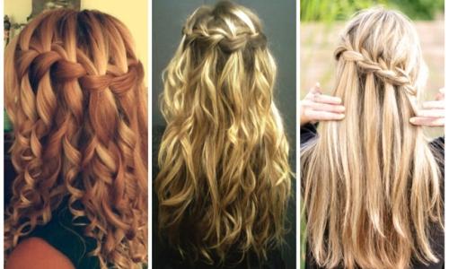 Причёска водопад на длинные волосы видео