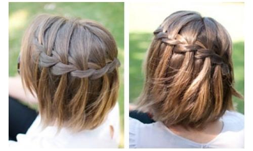 Прическа французский водопад на коротких волосах