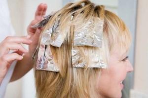 Суть процедуры мелирования русых волос