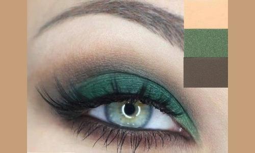 Оттенки для смоки айс на серо-зеленые глаза