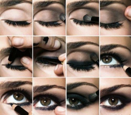 Схема нанесения макияжа смоки айс