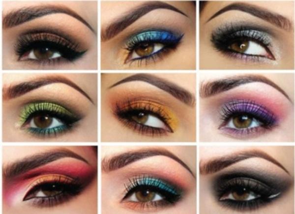 Варианты яркого вечернего макияжа для карих глаз