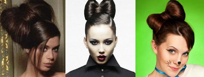 Бант из волос - учимся делать красивую прическу дома
