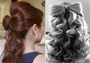 Как сделать прическу Бант на распущенных волосах