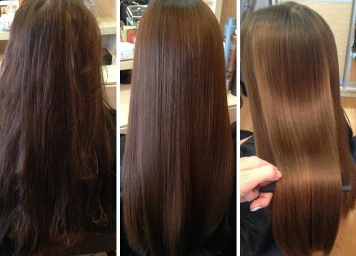 Результаты применения ботокса для волос