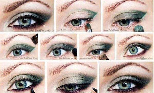 Правельный макияж если глаза зеленые