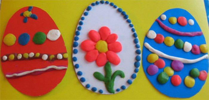 Поделки к Пасхе с детками для садика