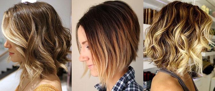 Как смотрится балаяж на коротких темных волосах