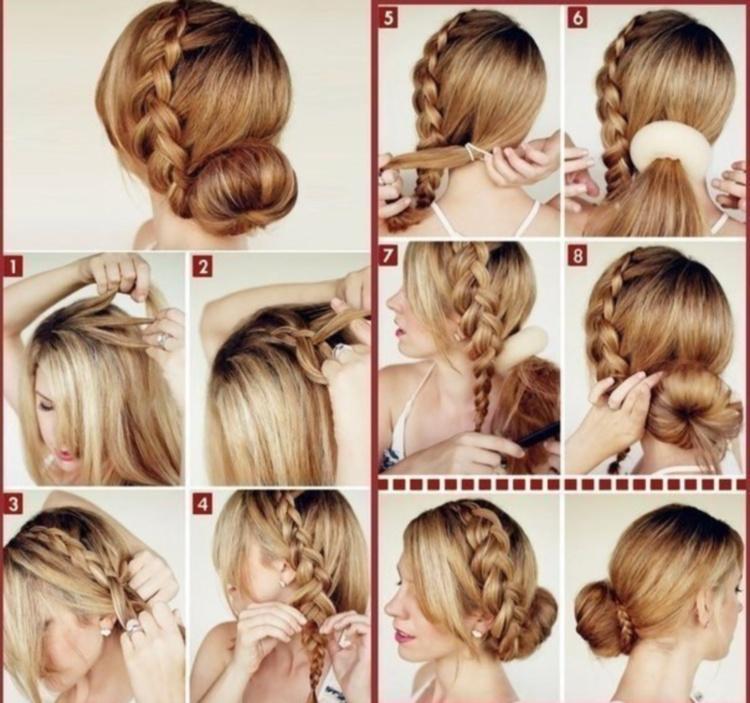 Прически из кос из длинных волос на каждый день своими руками