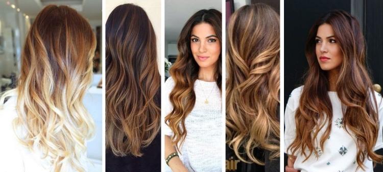 Окрашивание балаяж на темно-русые волосы - особенности выбора цвета