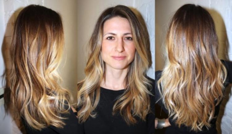 Шатуш на русых волосах: подбор цвета, фото, техника выполнения