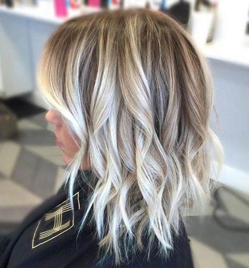 Фото балаяж на светлые короткие волосы