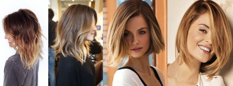 Модное окрашивание волос в 2017 году на средние волосы шатуш