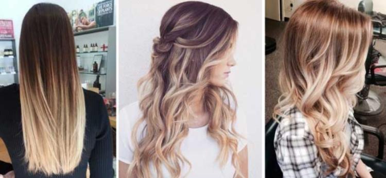 Варианты балаяжа на светлых волосах для блондинок и русых девушек