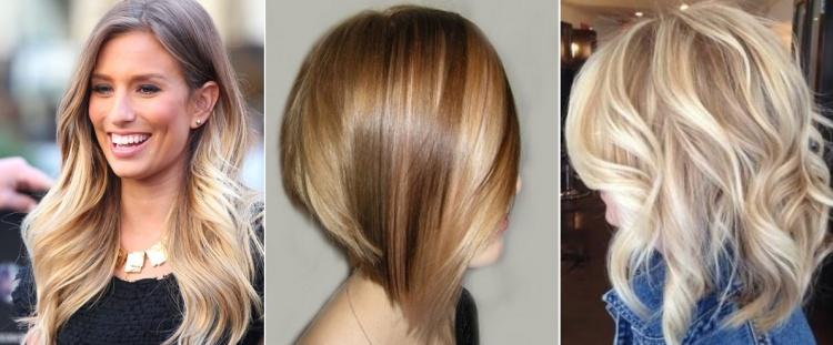 Колорирование на светло-русых волосах, в том числе прямых или вьющихся