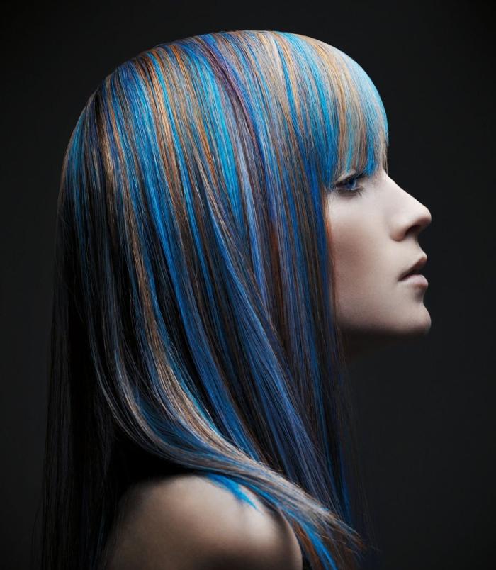 Особенности покраски в стиле гранж для средней длины волос