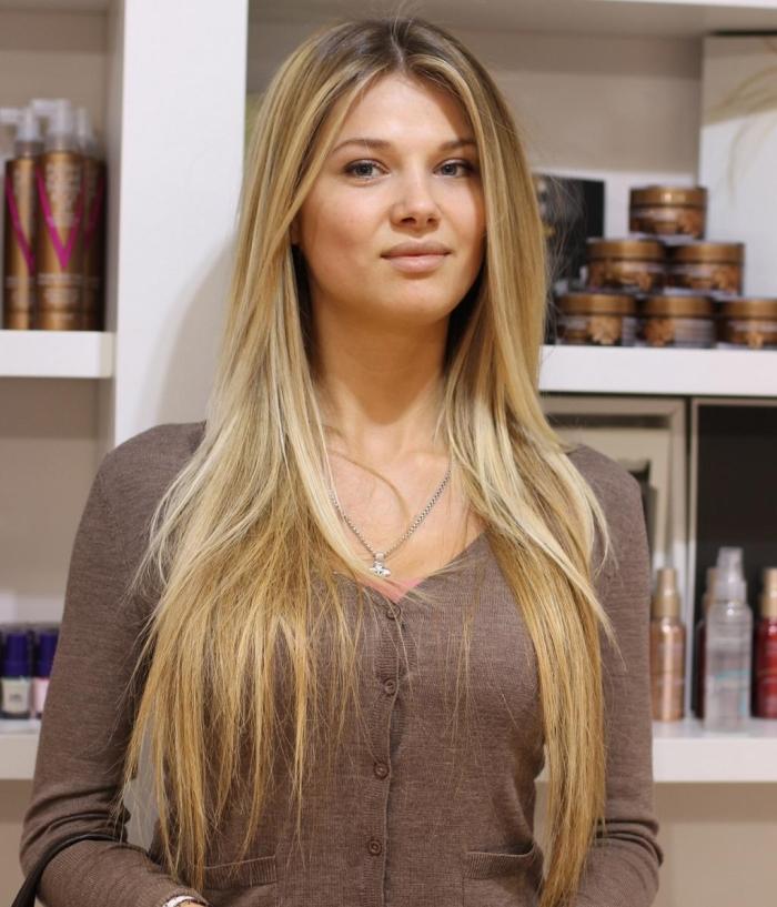 Виды брондирования на светлые волосы: калифорнийская техника