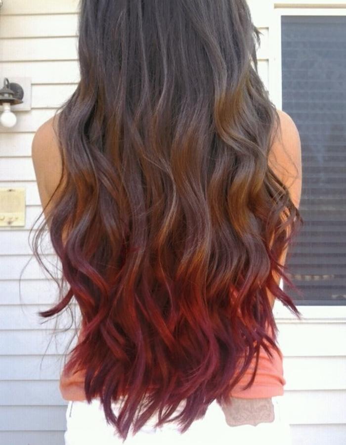 Как покрасить омбре на длинные волосы, фото