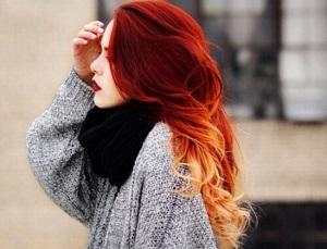 омбре на короткие рыжие волосы фото