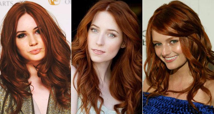 кому идет рыжий цвет волос фото