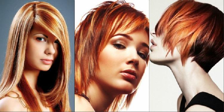 Мелирование на рыжие волосы - как выбрать оттенки краски