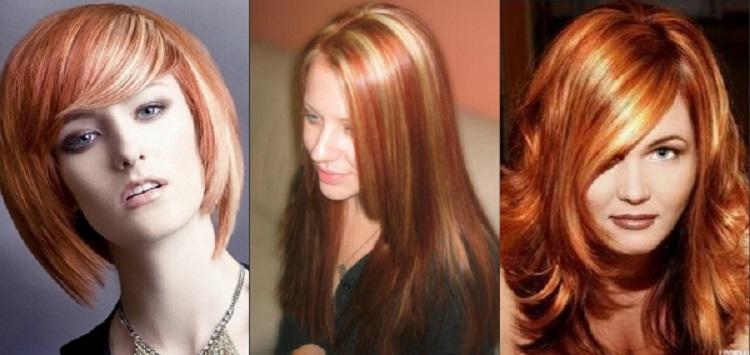 Мелирование на рыжие волосы - основные методы окрашивания