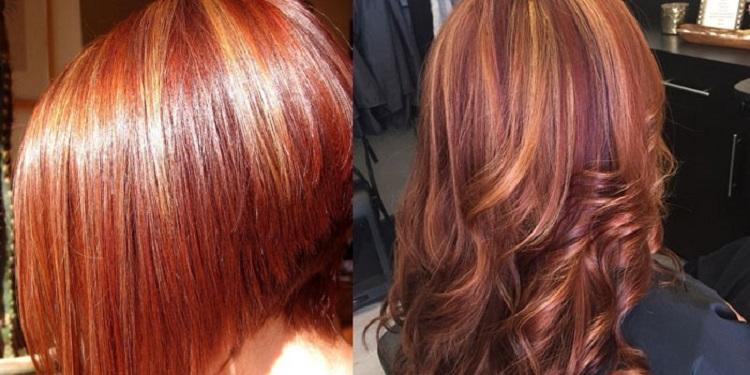 Мелирование на короткие рыжие волосы