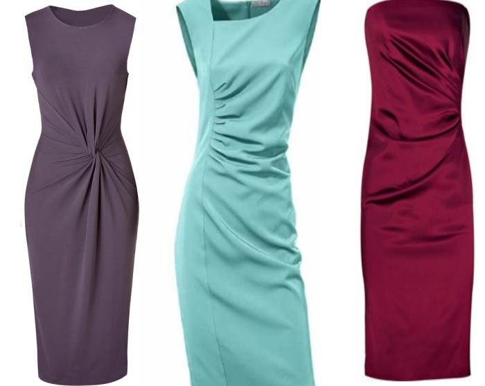 Нарядное платье с драпировкой на талии для женщины 50 лет