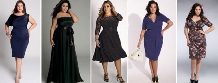 Нарядные платья для полных женщин - на что обратить внимание при выборе