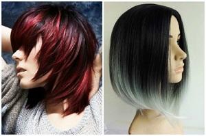 Омбре на средние темные волосы