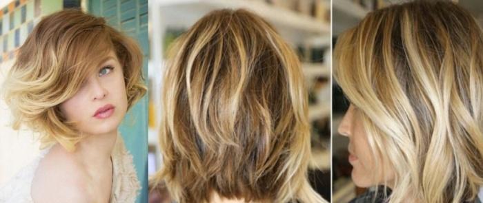 Омбре на короткие русые волосы с челкой фото