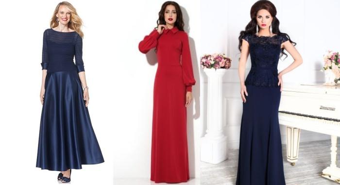 Отрезное платье для женщины 50 лет
