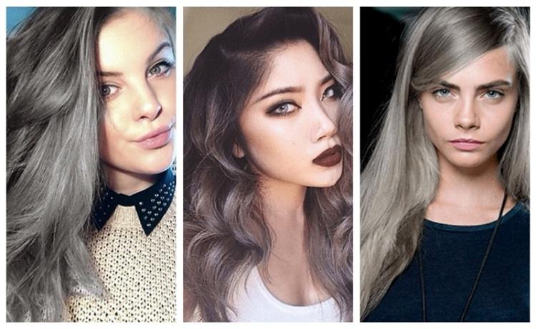Покрасить темные волосы в серый цвет в домашних условиях