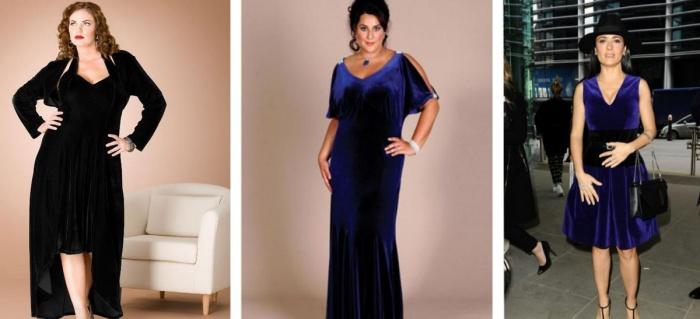 Платье из бархата для женщин 50 лет