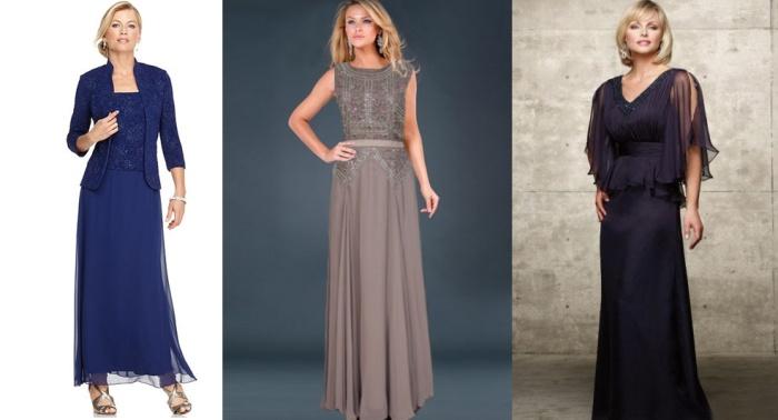 Платье в пол для женщины 50 лет